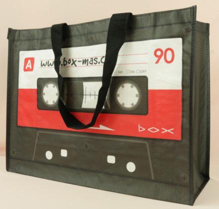 Bedruckte PP woven Tasche # 9, boxmas vorne seitlich rechts, 10726,10539